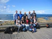 The LTP team at the Atlantic beach of Porto