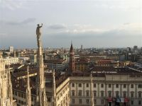 View from the roof of Milan Cahtedral